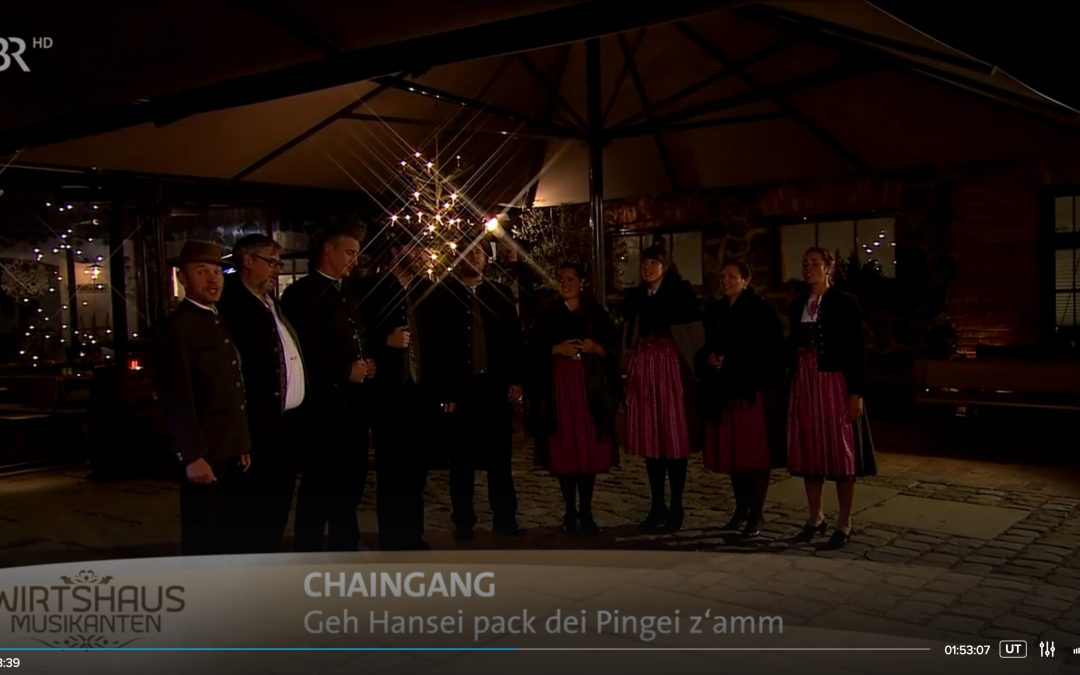 Weihnachten mit den Wirtshausmusikanten: die chaingang mit dabei